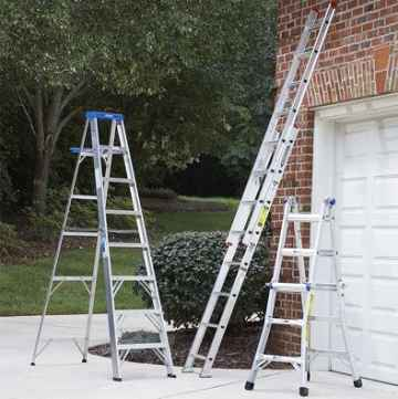 position the ladder