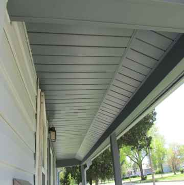 pull the soffit away from the wall channel
